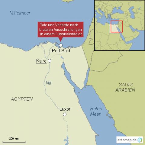 Tote und Verletzte nach Ausschreitungen in Port Said