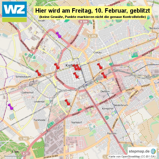 Karte KR Blitz-Marathon Freitag