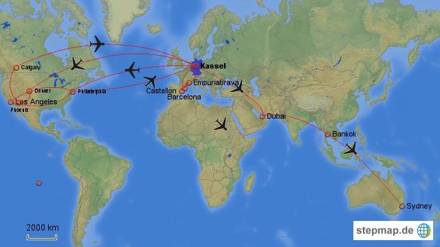 Reiserouten seit 2011