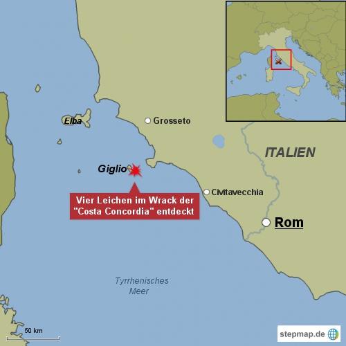 Weitere Leichen im Wrack der Costa Concordia entdeckt