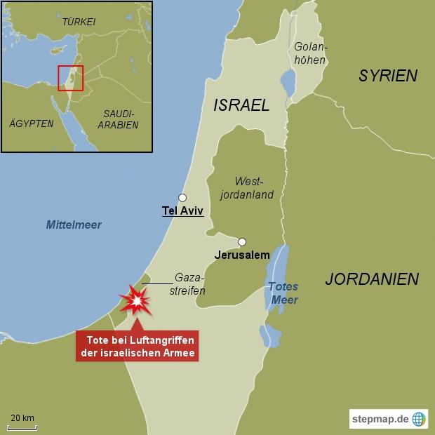 Israelische Luftwaffe attackiert Ziel im Gazastreifen