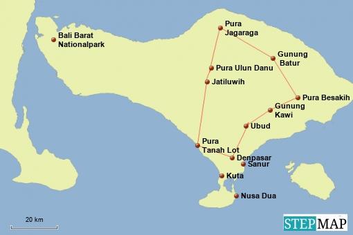 Bali Rundreise Sehenswürdigkeiten