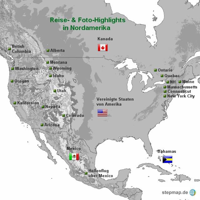 Routen durch Amerika