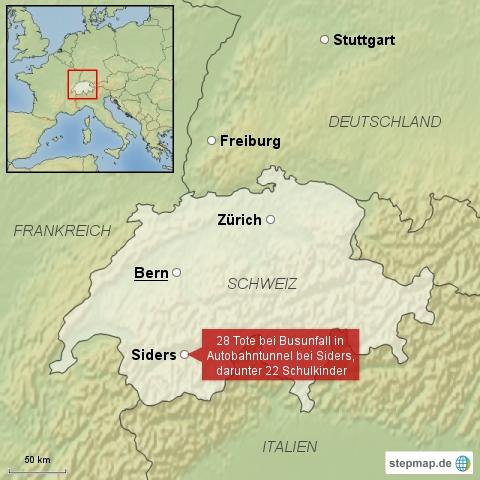 Schulbus verunglückt in der Schweiz