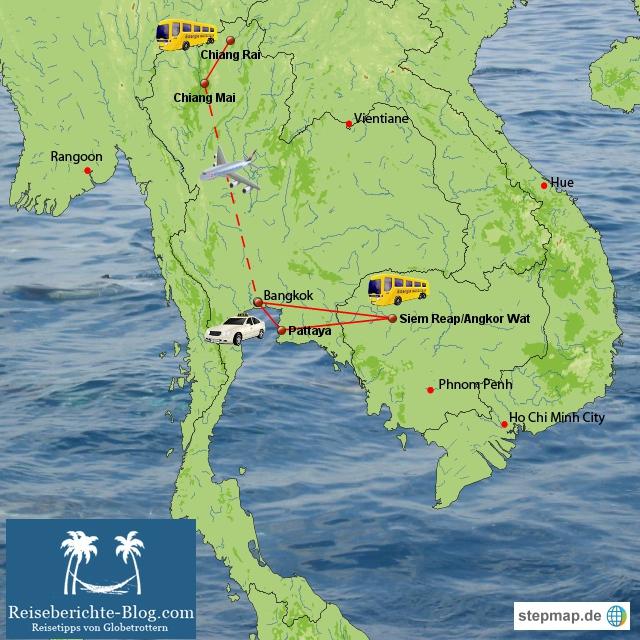 Thailand-Kambodscha Reise