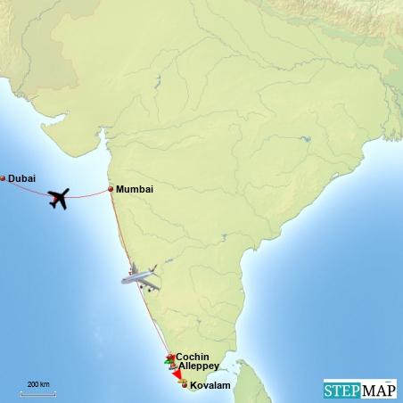 Von Mumbai nach Kovalam