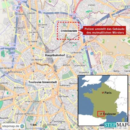 Polizei umstellt Gebäude in Toulouse