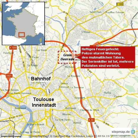 Toulouse: Polizei stürmt Wohnung