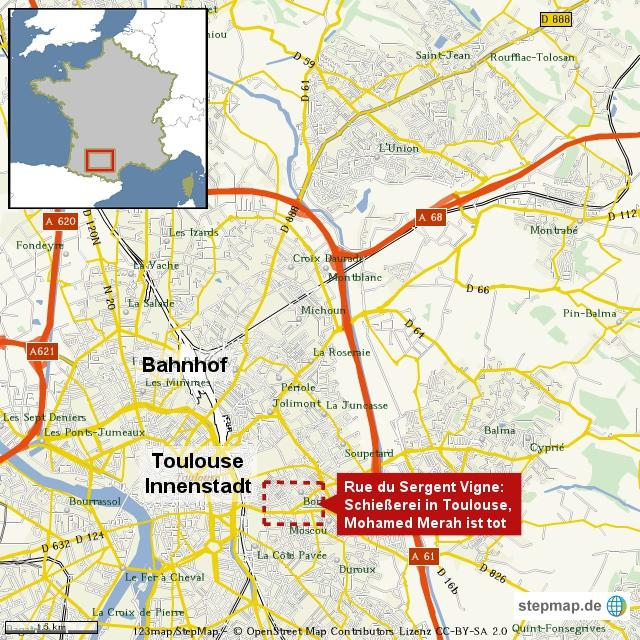 Korrektur: Toulouse, Polizei stürmt Wohnung