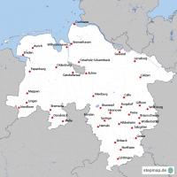 Niedersachsen Karte Pdf.Stepmap Niedersachsen Landkarten Für Niedersachsen