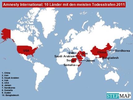 Amnesty: Top 10 Länder Todesstrafe