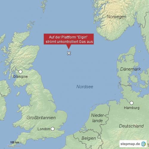 Plattform Elgin, Nordsee