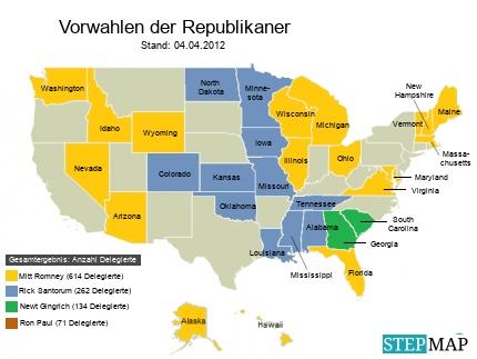 Korrektur: Vorwahlen USA, Stand 04.04.2012