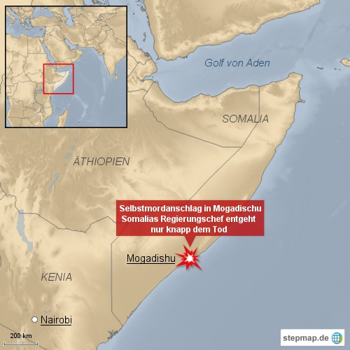 Sebstmordanschlag in Mogadischu