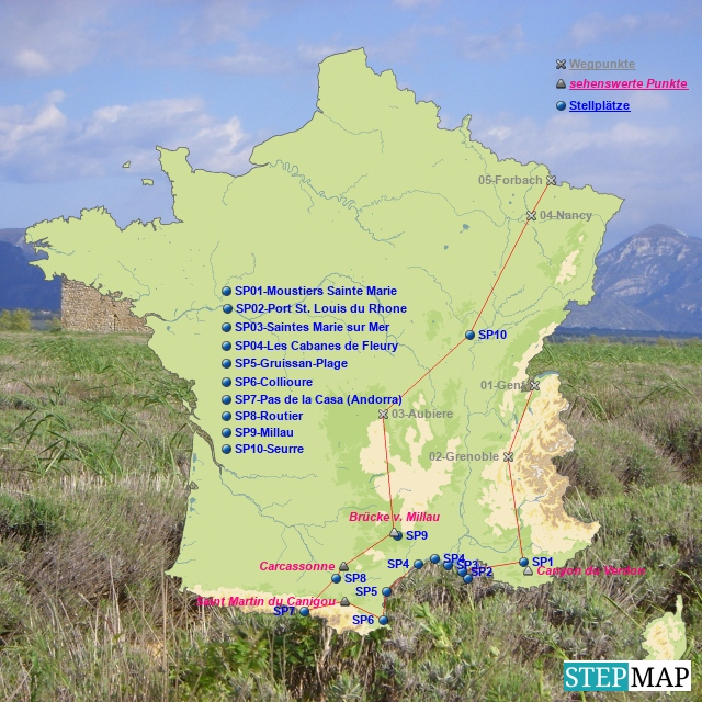 Südfrankreis Frühjahr 2009