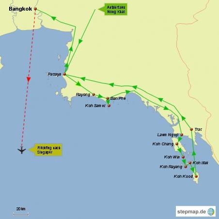 Reiseroute Karte 2