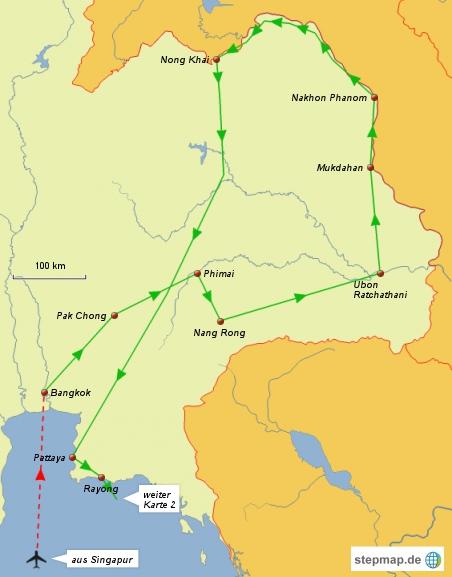 Reiseroute Karte 1