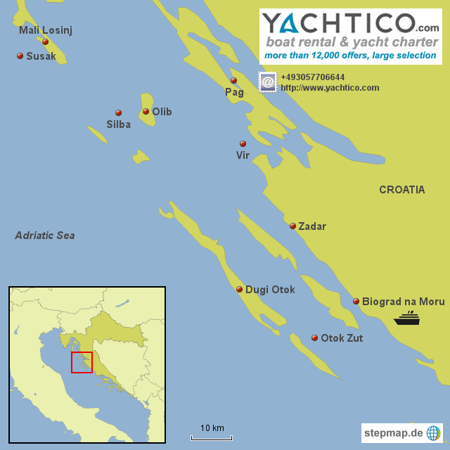 Yachtcharter Croatia: Islands in the Adriatic