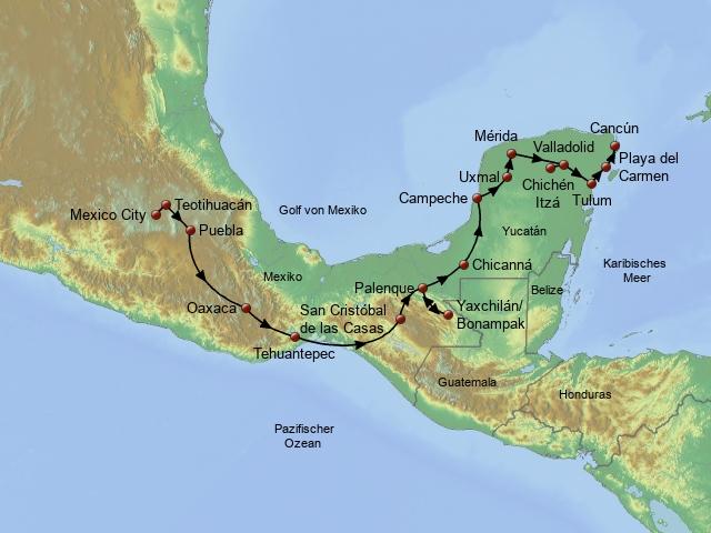 Wandern auf den Pfaden der Azteken & Mayas