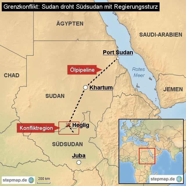 Eskalation zwischen Sudan und S�dsudan