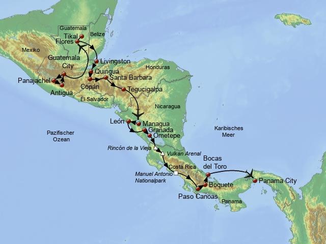 Traumstraße Mittelamerikas