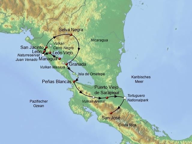 Von den Vulkanen zur Karibik