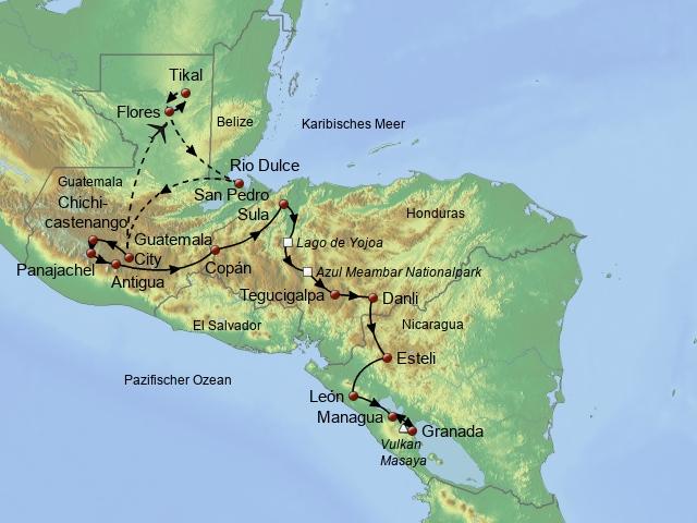 Kreuz und Quer durch Mittelamerika