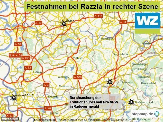 Razzia gegen Rechts in NRW