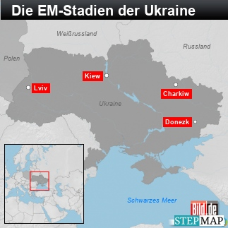 Die EM-Stadien der Ukraine