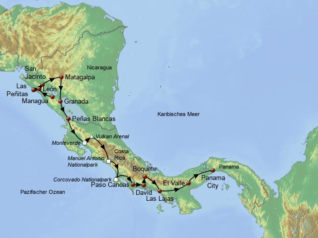 Auf vier Rädern durch Mittelamerika
