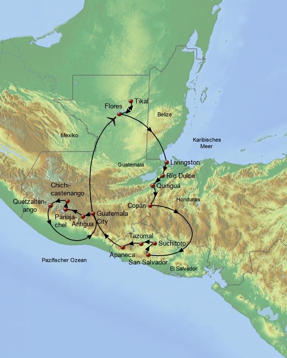 Im Herzen Mittelamerikas