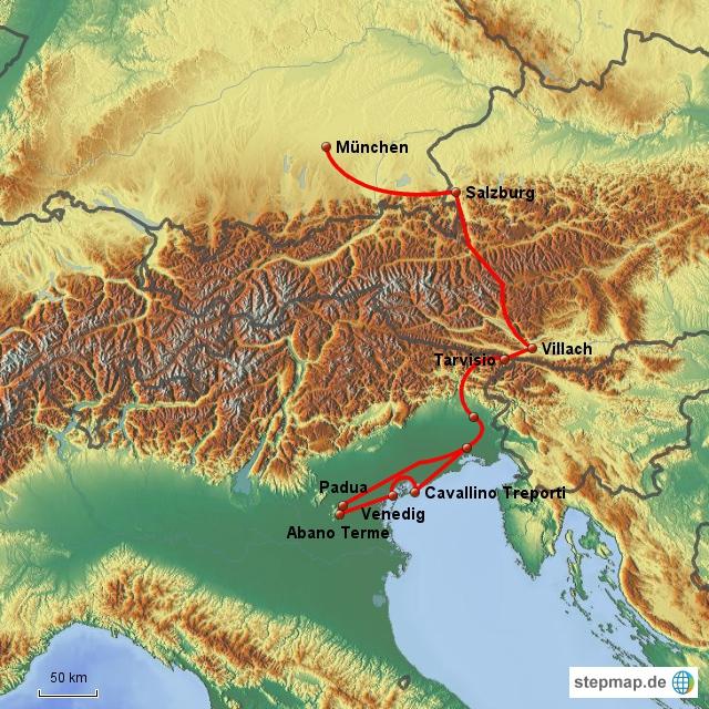 Wohnmobiltour Region Padua und Venedig