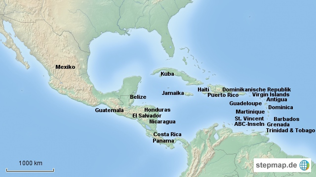 Kontinent_Karibik_Mittelamerika