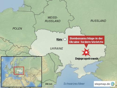 Bombenanschläge in der Ukraine