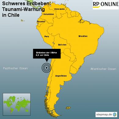 Chile: Tsunami-Warnung nach schweren Erdbeben