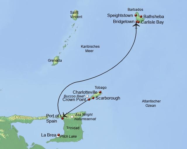 Drei Perlen der Karibik