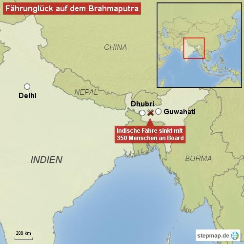 Fährunglück auf dem Brahmaputra