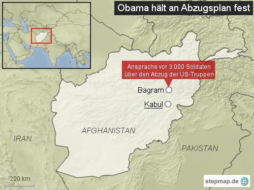 Korrektur: Obama in Afghanistan: Abzug der US-Truppen