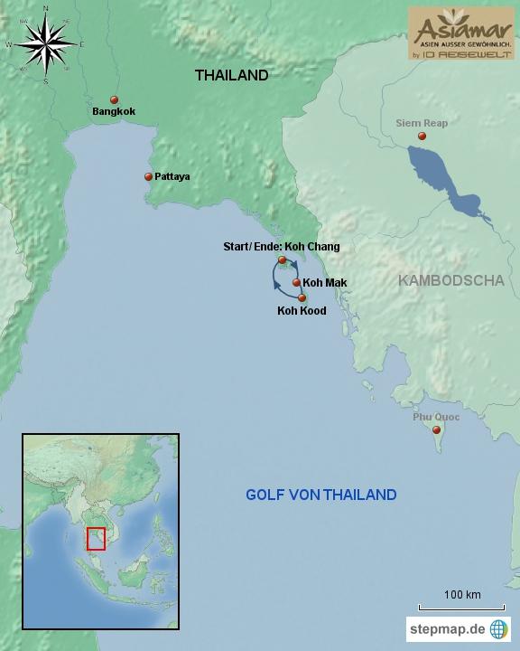 Thailand_Karte_Rundreise_Thailand_Inselhüpfen_rund_um_Koh_Chang