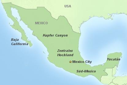 Mexico - à la carte - Regionen