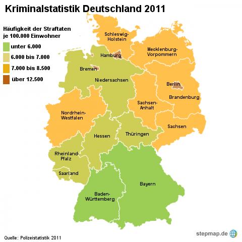 Kriminalstatistik Deutschland 2011