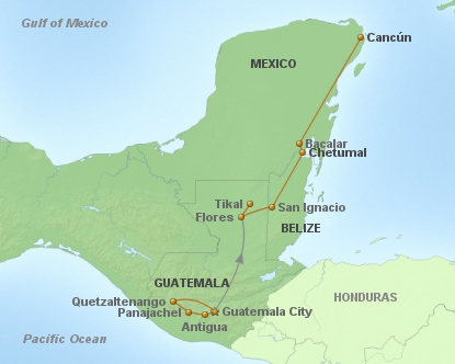 Höhepunkte Mundo Maya - Länderkombination