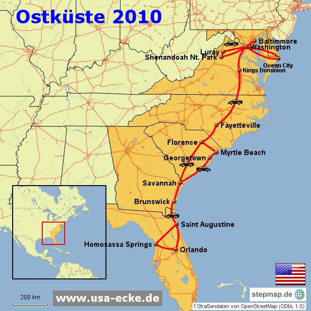 USA Ostkueste 2010