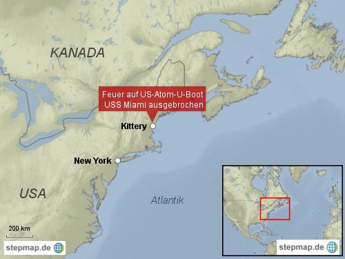 Feuer auf US-Atom-U-Boot
