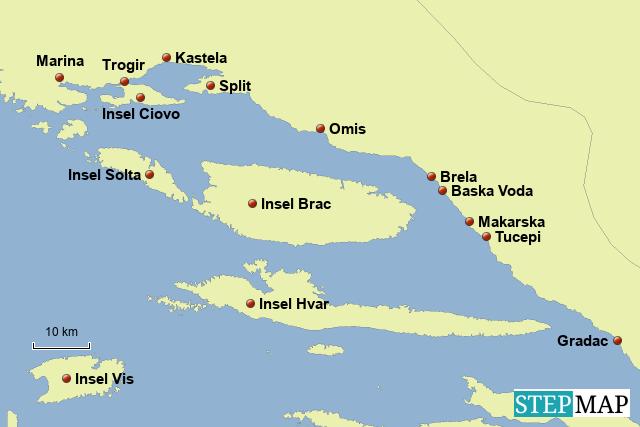 Mitteldalmatien in Kroatien