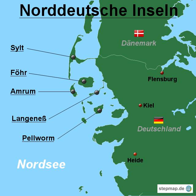 Norddeutsche Inseln- Überblick