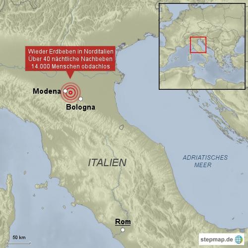 Erneut Erdbeben in Italien
