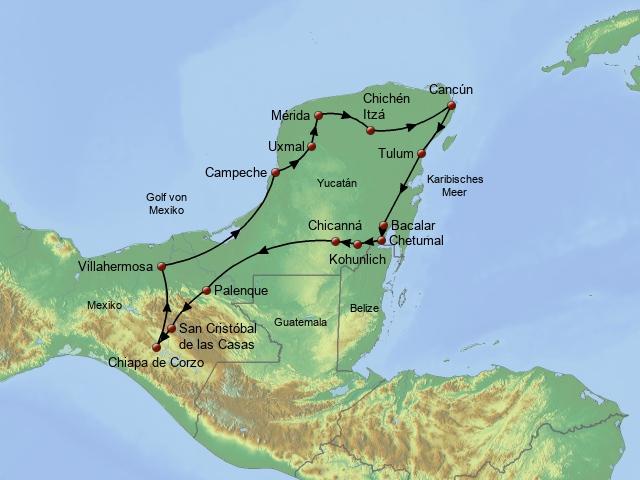 Yucatan und Chiapas