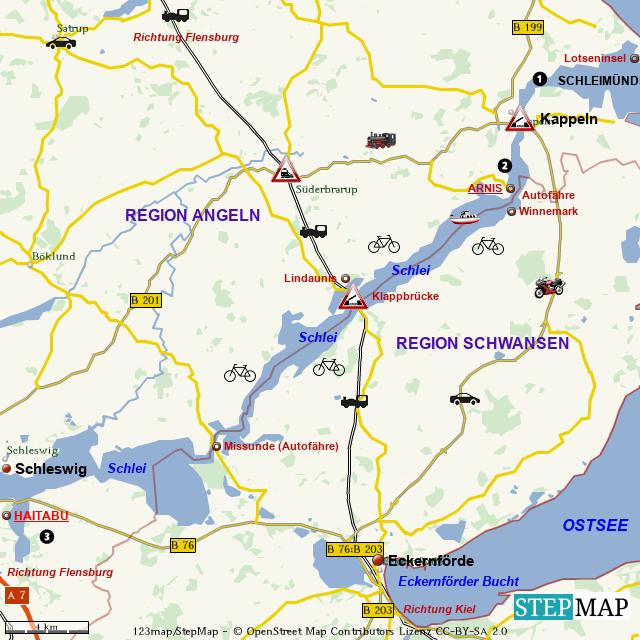 Das Gebiet der Schlei in Schleswig Holsteini