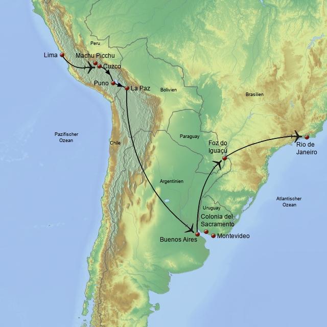 Kreuz und Quer durch Südamerika